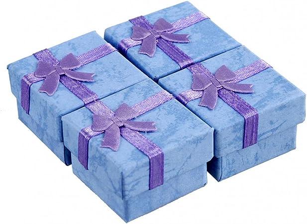 24 piezas de lazo cuadrado regalo envuelto caja pendientes pulsera anillo joyería almacenamiento pantalla cajas de regalo boda fiesta Candy cajas: Amazon.es: Hogar