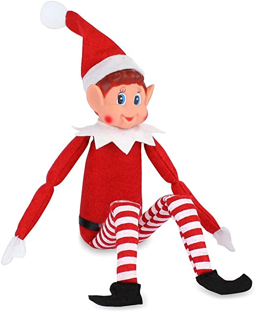 Amazon Com 48 X New Christmas Elves Behavin Badly Red 12 Long Leg Soft Doll Naughty Boy Elf Home Kitchen