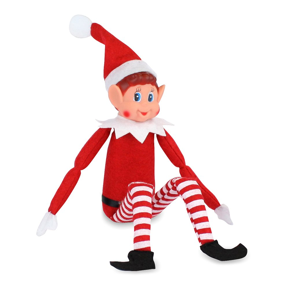 12 x New Christmas - Elves Behavin Badly Red 12'' Long Leg Soft Doll Naughty Boy Elf