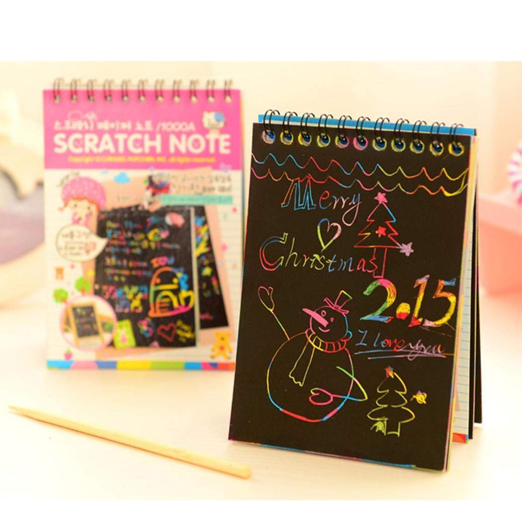 banlany Portable DIY Children Education Drawing Painting Book Loose Leaf Scratch Picture Book