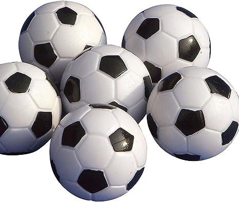 Yeelan Juego de Foosball de Futbol de Mesa, Paquete de 8PCS (Negro y Blanco, 32mm / 1.26 IN) by: Amazon.es: Juguetes y juegos