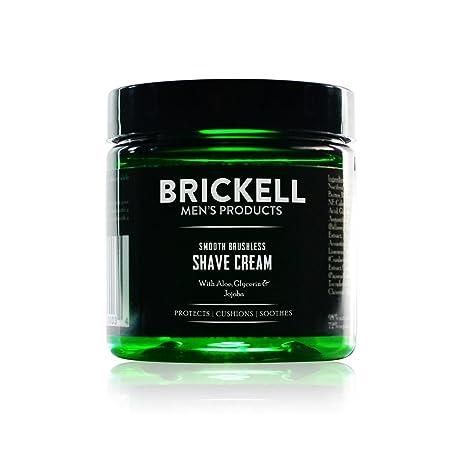 Brickell Mens Products – Crema de Afeitar Suave Sin Brocha para Hombres - Natural y Orgánica – 59 ml