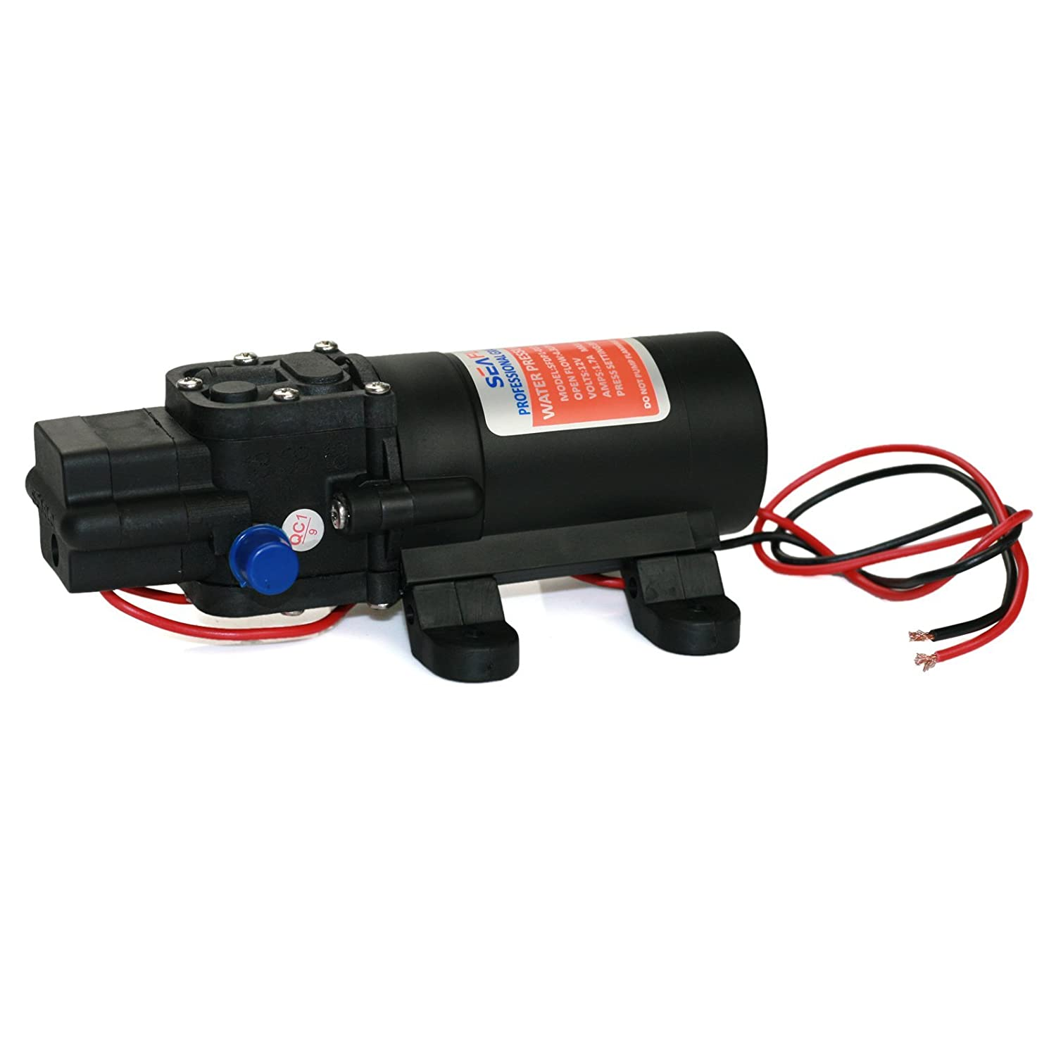 Seaflo 12v Dc 12 Gpm 35 Psi 21 Series Diaphragm Water Home A C Compressor Switch Wiring Pressure Pump For Caravan Rv Boat Marine Sports Outdoors