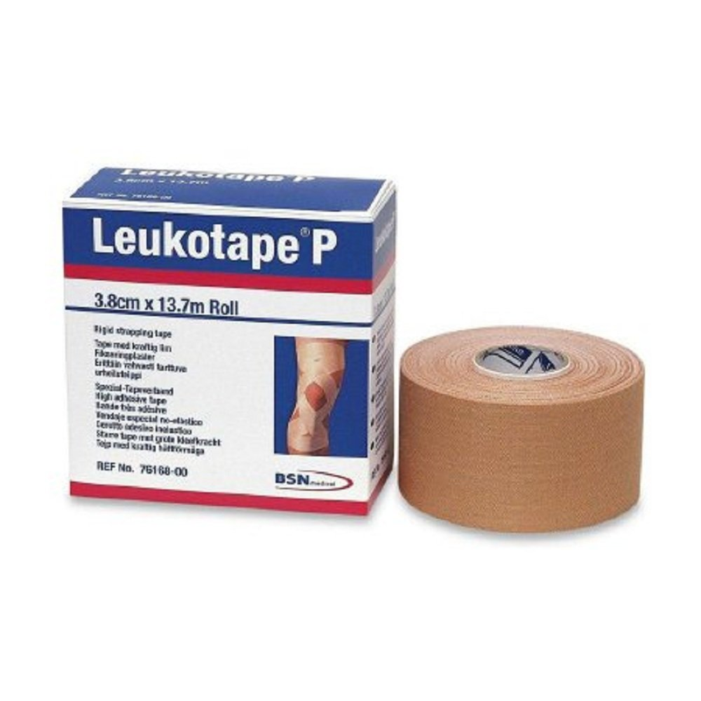 Leukotape - P - Orthopedic Corrective Tape - Porous Rayon / Zinc Oxide 1-1/2 Inch X 15 Yard Beige NonSterile - 30/Case - McK by Leukotape P