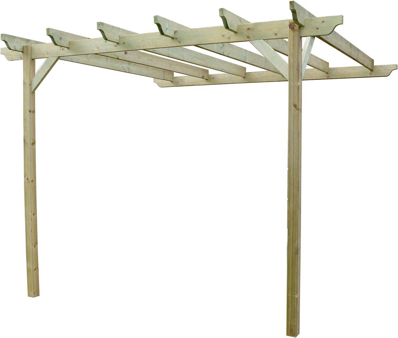 Rutland County Garden Furniture Pérgola Grande esculpida Rafter – diseño de pérgola Inclinada