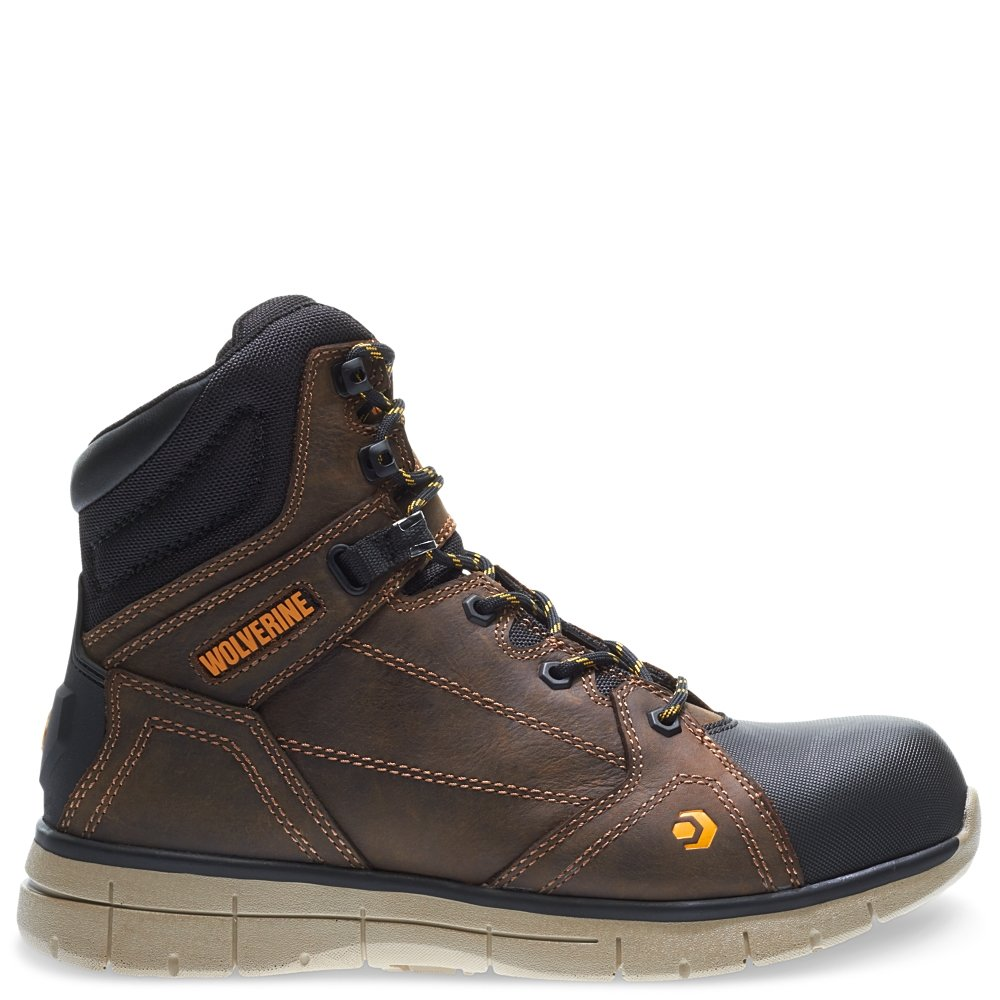 Wolverine Men's Rigger WPF Composite-Toe Mid Wedge Construction Boot, Summer Brown, 11.5 M US