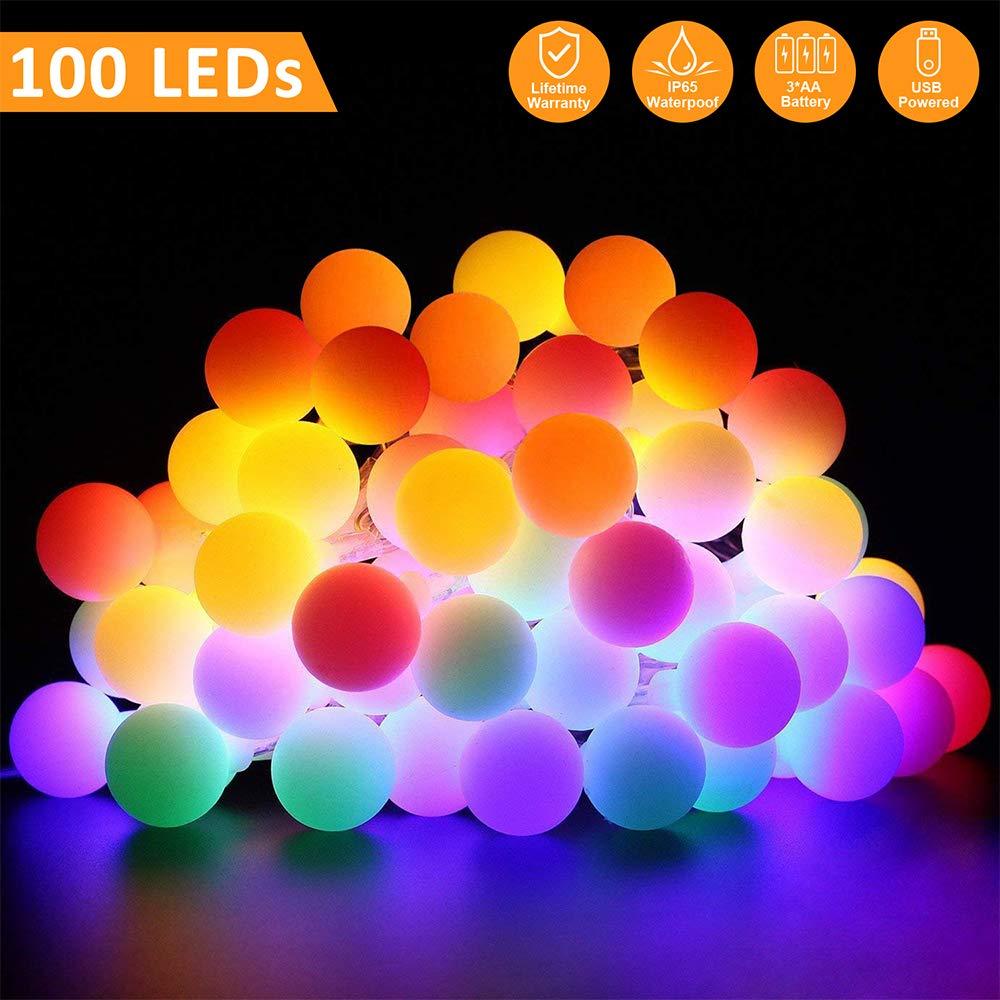 GoodGoodday Luminosa, 10M 100 LED, Impermeabile IP65 Multicolore Catena Luci Stringa per Natalizie Decorazione Esterna e Interni, Colorato LED Lights - 2