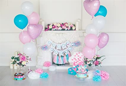 YongFoto 3x2m Vinilo Telon de Fondo Cumpleaños 1 año Hermosas Decoraciones Fondos Fotograficos Photo Booth Infantil Party Banner Niña Niño Photo ...