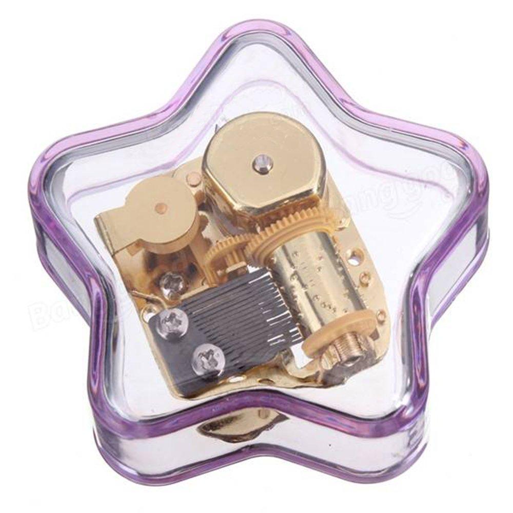 【即納&大特価】 Youtang ( TM B01DXE72ZA )星型クリエイティブ透明アクリル18-note Wind パープル - Up Musicalボックス、ミュージカルおもちゃ Up、異なるSweet Tune Available Tune:You are My Sunshine 透明 YKL-23-A55DJ-purple B01DXE72ZA パープル Tune:You are My Sunshine, アート&アロマ 【グレイス】:60a22b39 --- arcego.dominiotemporario.com