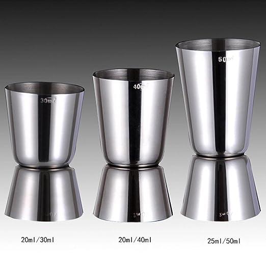 2 opinioni per Highdas 25 ml/50 ml Doppio misurare lo spirito misurino Misure da cocktail per