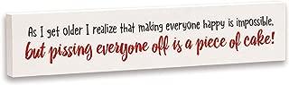 product image for Imagine Design Relatively Funny As I Get Older I Realize, Stick Plaque, Red/Black/White