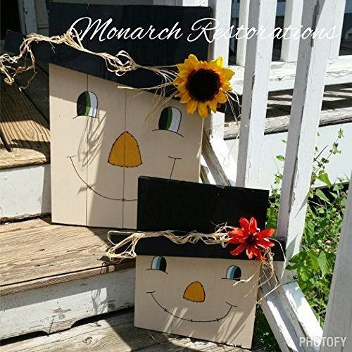 Wooden Pallet Scarecrow Fall Decorations 14x18in
