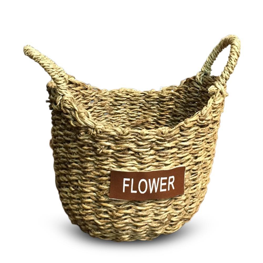 Pliable Panier de Rangement Osier Panier de Fleur Tress/é Pliable Corbeille /à Linge Sale Rond Osier 3 Tailles Disponibles