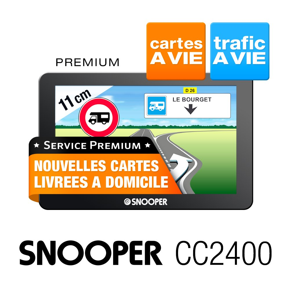 Snooper CC 2400 GPS Eléments Dédiés à la Navigation Embarquée Europe Fixe, 16:9 product image