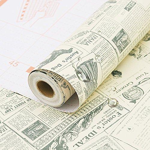 Simplelife4u Vintage Newspaper Decorative Contact Paper