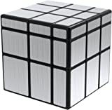Lanlan 3x3x3 Mirror Cube Magic Speed Puzzles, ABS Ultra-smooth Professional Twist Cube Smart Brain Teaser Toy Game Gifts