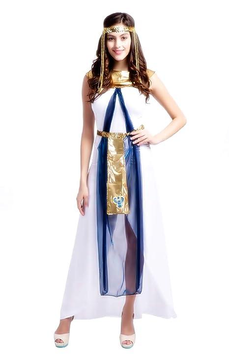Inception Pro Infinite (Taglia L ) Costume Cleopatra - Egiziana - Bianco -  Travestimento - 864e099ba21a