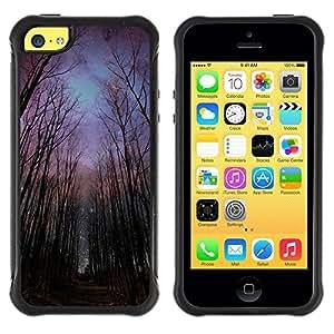 Suave TPU GEL Carcasa Funda Silicona Blando Estuche Caso de protección (para) Apple Iphone 5C / CECELL Phone case / / Night Forest Sky Universe Creepy /