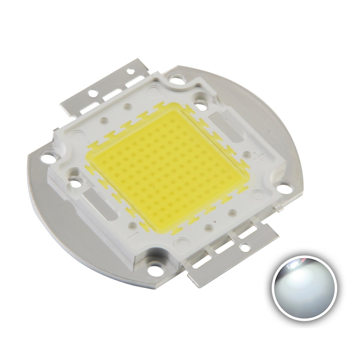Chanzon High Power Led Chip 100W White 6000K-6500K 3000mA DC 30V-34V 100 Watt Super Bright Intensity SMD COB Light Emitter Components Diode 100 W Bulb Lamp Beads DIY Lighting