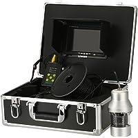 Lixada Caméra de Pêche 1000TVL sous-Marine Portable étanche 18 LEDs 360 degrés de Rotation Caméra Finder 7 Pouces Moniteur LCD 20m/50m/100m câble