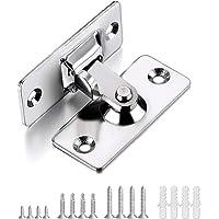 GOLRISEN Schuifdeur klein schuifdeur slot deurslot 90 graden deurgrendel roestvrij staal rechthoekig deurvergrendeling…