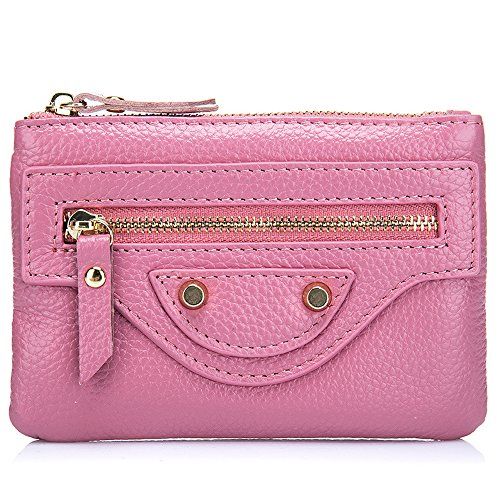 Price comparison product image TACOO Coin Purse Fashion Zip Leather Key Card Wallet Car Key Ring Handbag(Pink)