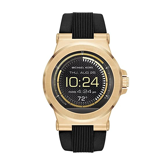 56bed2789666f Michael Kors Access Touch Screen Black Dylan Smartwatch MKT5009  Amazon.ca   Watches