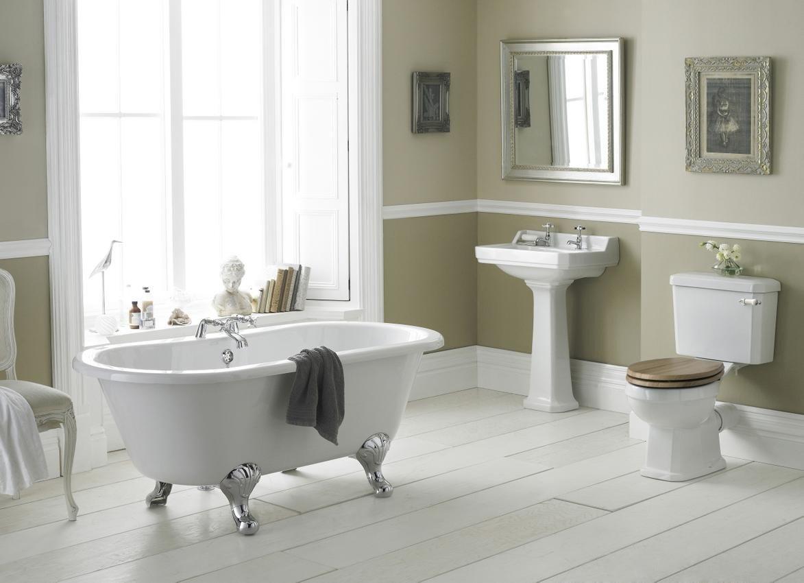 NCS885 - Carlton 500mm Basin 2TH / NCS883 - Carlton Full Pedestal Pebble Grey