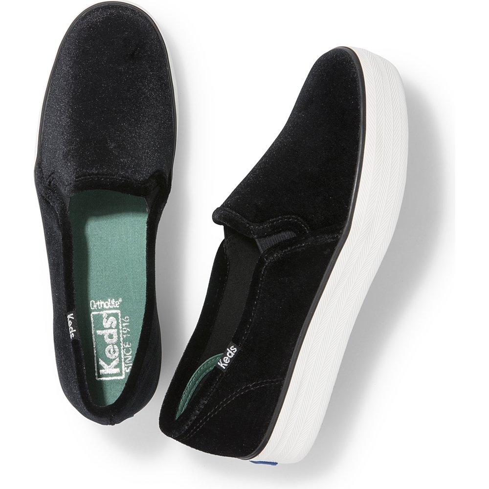 Keds Women's Triple Decker B06XCT7QFG Metallic Canvas Fashion Sneaker B06XCT7QFG Decker 9 B(M) US|Velvet Black e18ece