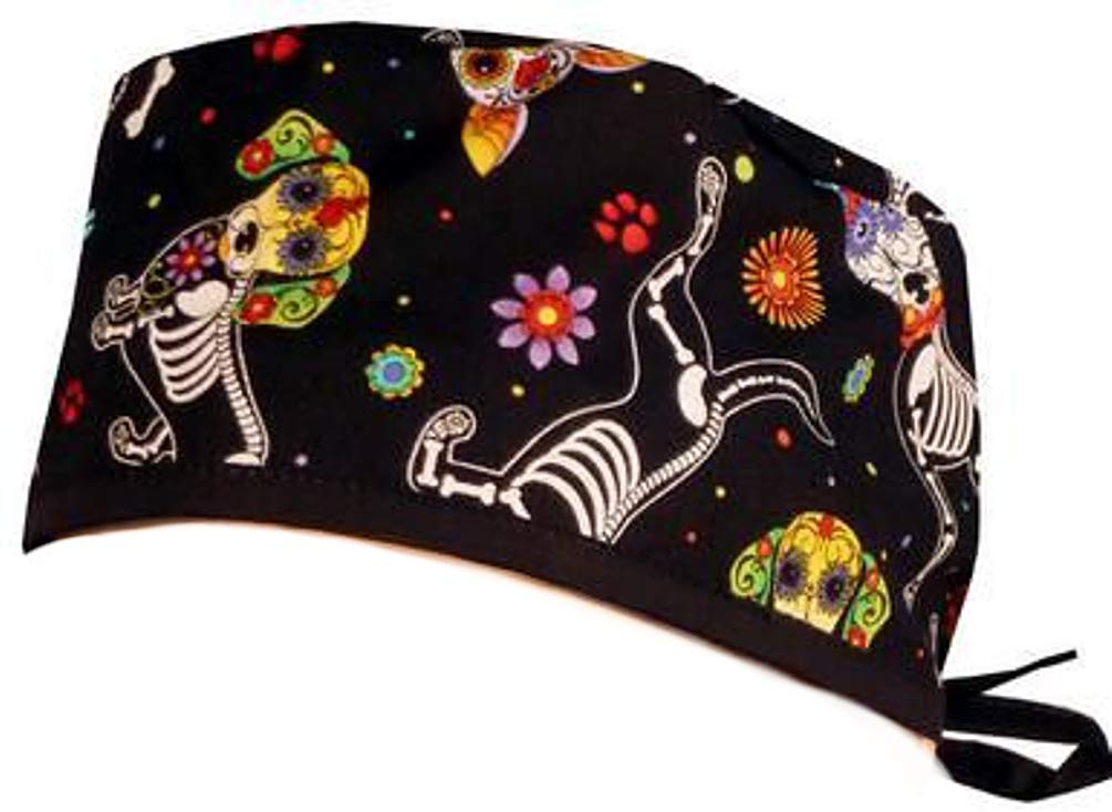 Mens and Womens Medical Scrub Cap - X-Ray Dogs by Sparkling Earth