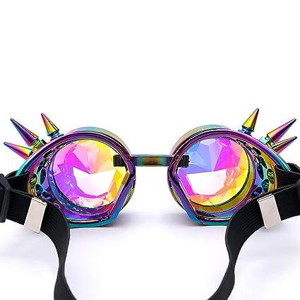 Bluestercool Lunettes de soleil, Colorées Lunettes de Kaléidoscope pour Festival et Fête (Multicolore)