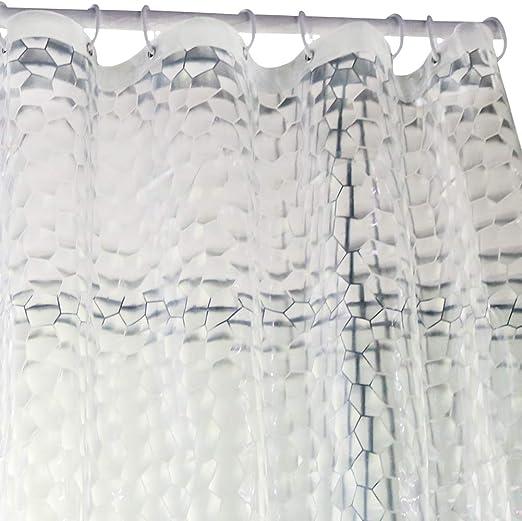 3D Waterproof Shower Curtain Liner EVA Bathroom Curtain Clear Water