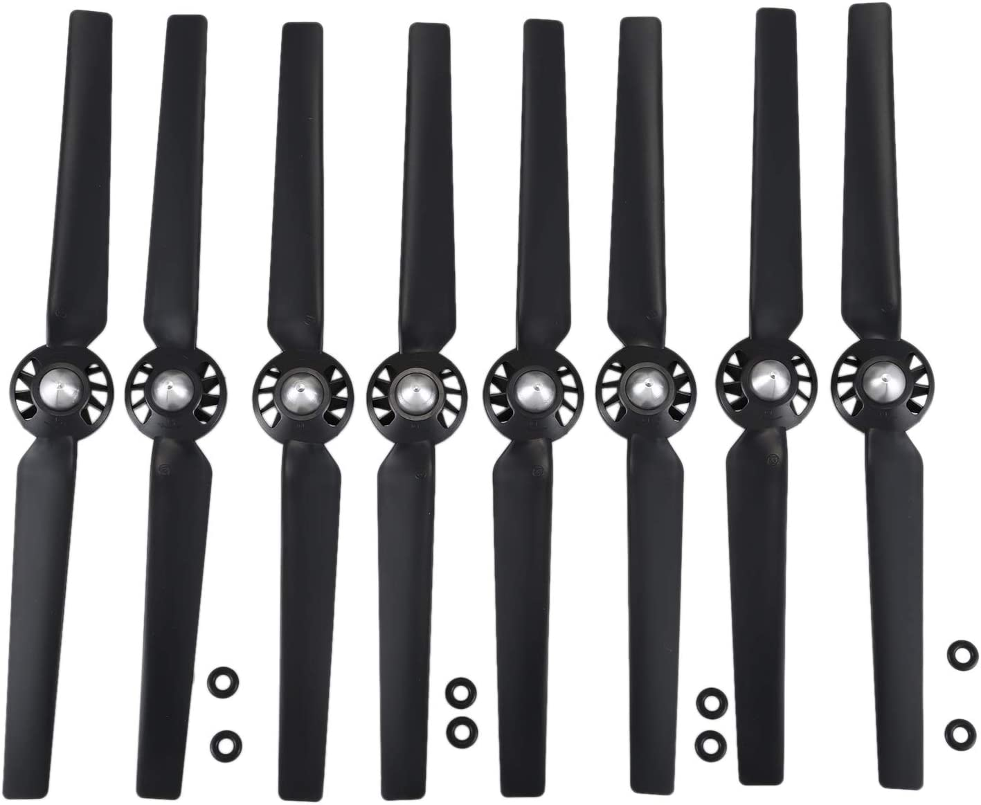 Vaorwne 8Pcs Propeller for Yuneec Q500 Typhoon 4K Camera Drone Spare Parts Quick Release Self Locking Props Replacement Blade Black