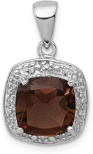 Rhodium Plated Diamond Love Pendant 16mm x 18mm 0.01cttw 925 Sterling Silver