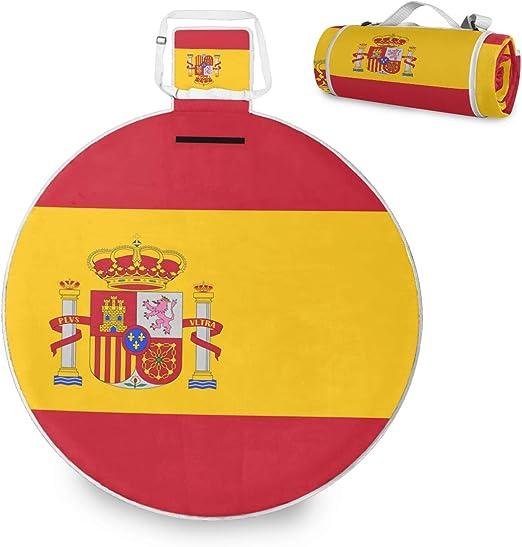 All3DPrint - Manta de Picnic con Bandera de España (58 Pulgadas): Amazon.es: Jardín