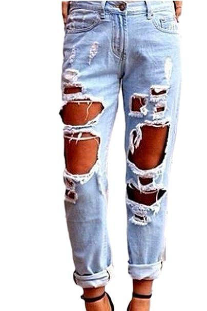 Pantalones De Mezclilla De Las Mujeres Pantalones Vaqueros ...
