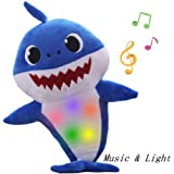 Lsxszz8-Baby Shark Official Singing Plush, Enjoyfeel Soft Music Sound Baby Doll Stuffed Plush Toys Singing English Song…