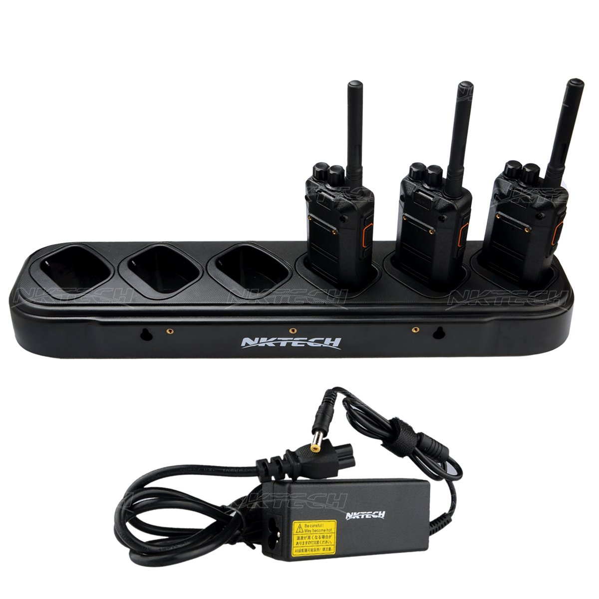 NKTECH 6-Way Six-Way Universal Rapid Multi Charger For TYT DMR MD-280 MD-280 Plus MD-380 Two-Way Radio Walkie Talkie Pack of 2 by NKTECH (Image #2)