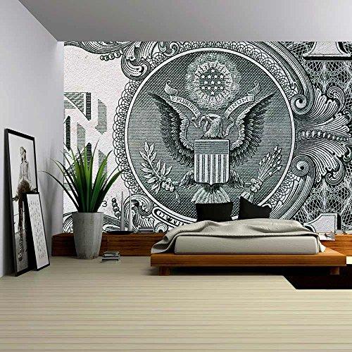 wall26 - American Dollar Bill - Removable Wall Mural | Self-adhesive Large Wallpaper - 100x144 inches (Wallpaper Bill $100)