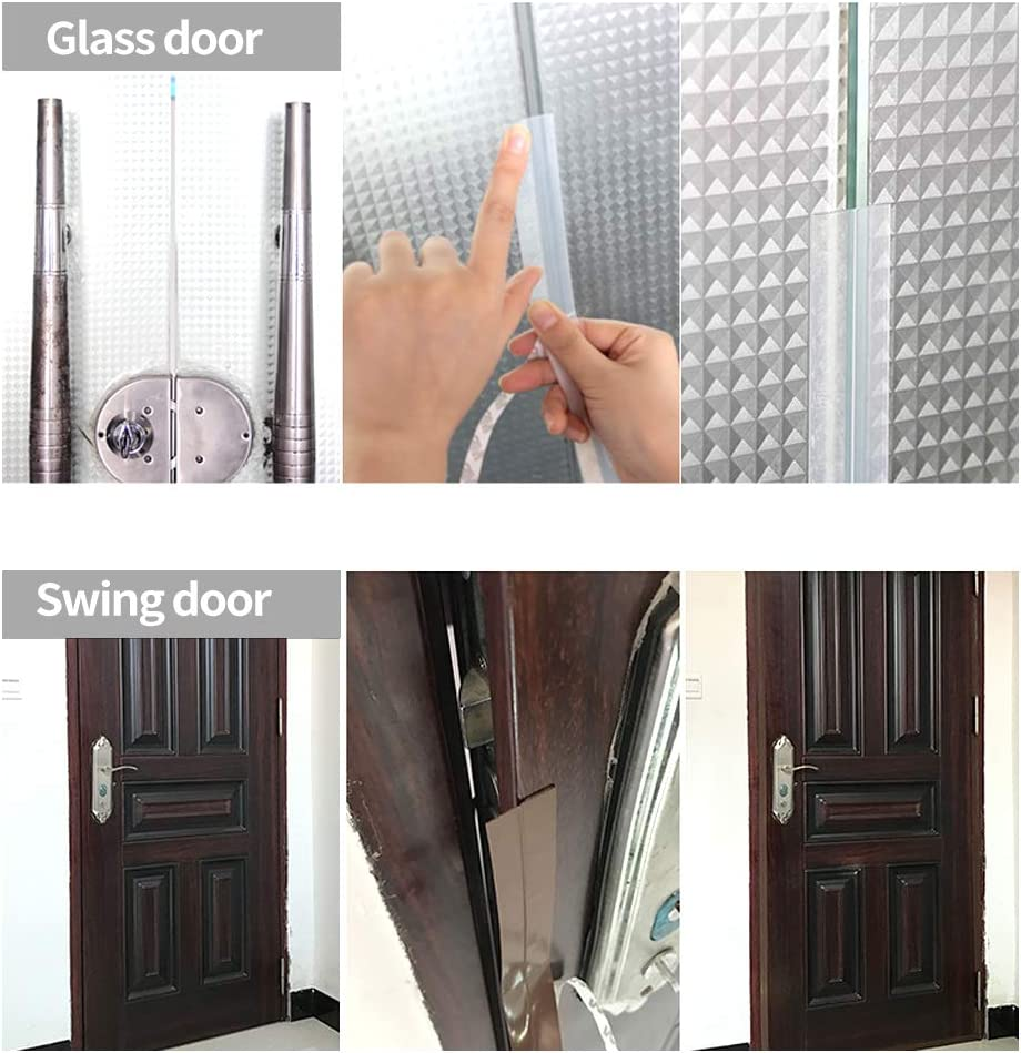 Tira de sellado de puerta de 3 piezas,tira de sellado de ventana Tira de exclusi/ón de borrador de silicona de 1 pieza 5M,tira de sello de puerta de sellado de clima blanco 2PCS 5M 9 * 6mm