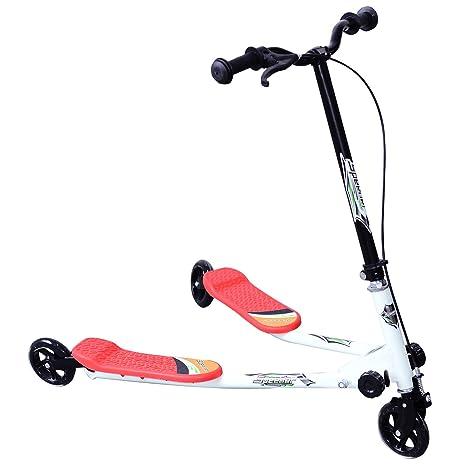 Homcom - Patinete infantil de 3 ruedas (plegable), color ...