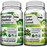 Moringa Oleifera + Green Coffee Bean Extract– Weight Loss, Healthy Heart and Blood Sugar Support Bundle – 120 Count Review
