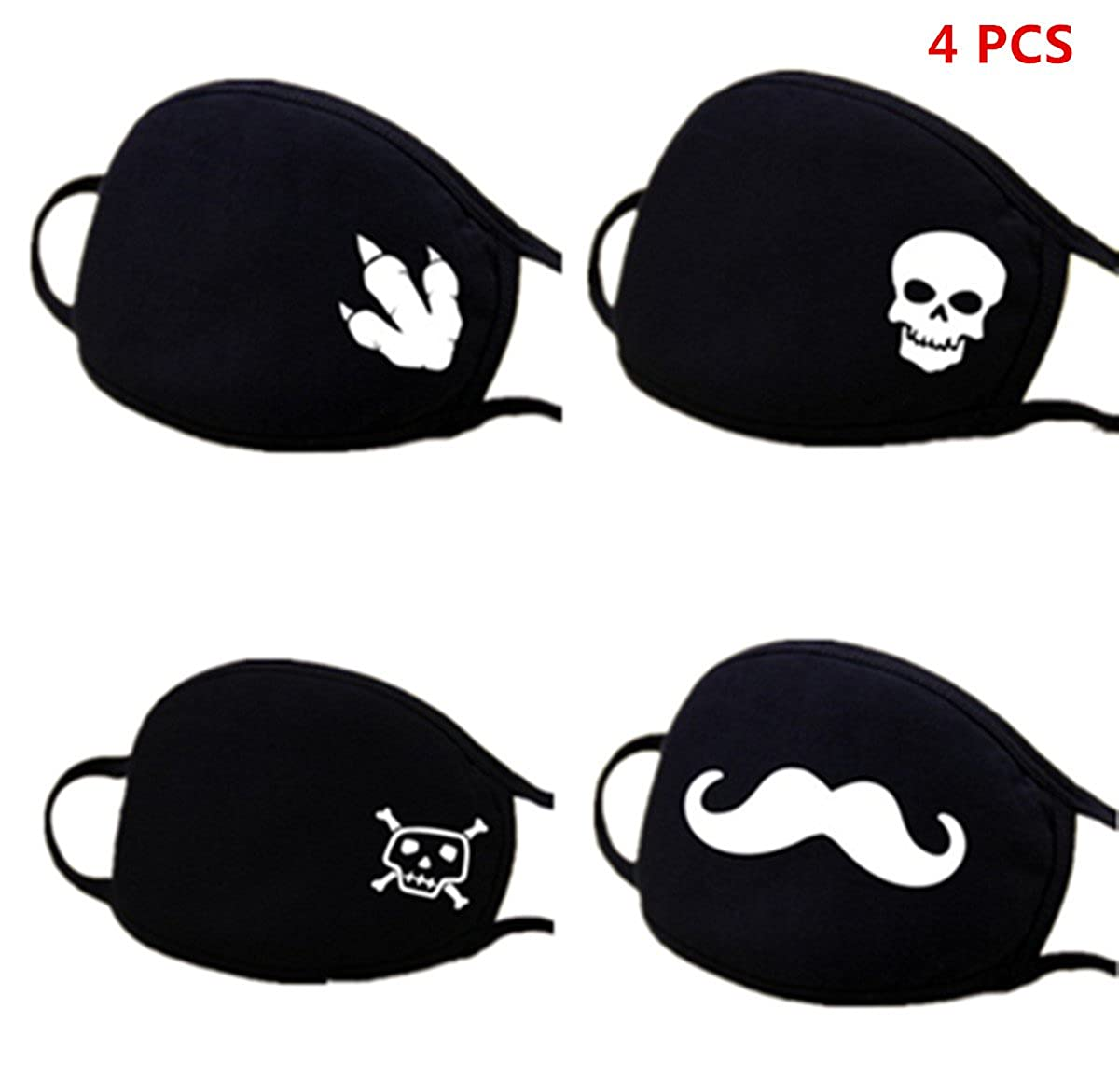 Men Women Anti-Dust Anime Mouth Mask Face Emoticon Earloop Cotton Surgical Mask FIST BUMP Dept