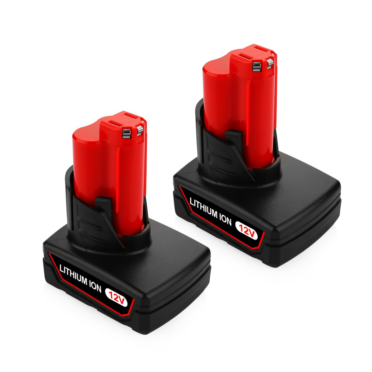 ANTRobut 6000mAh M12 12V Milwaukee Lithium-ion Replacement Battery For M12 XC 48-11-2440 48-11-2402 48-11-2411 M12 REDLITHIUM 12Volt Milwaukee Tools M12 Batteries (2 Pack)
