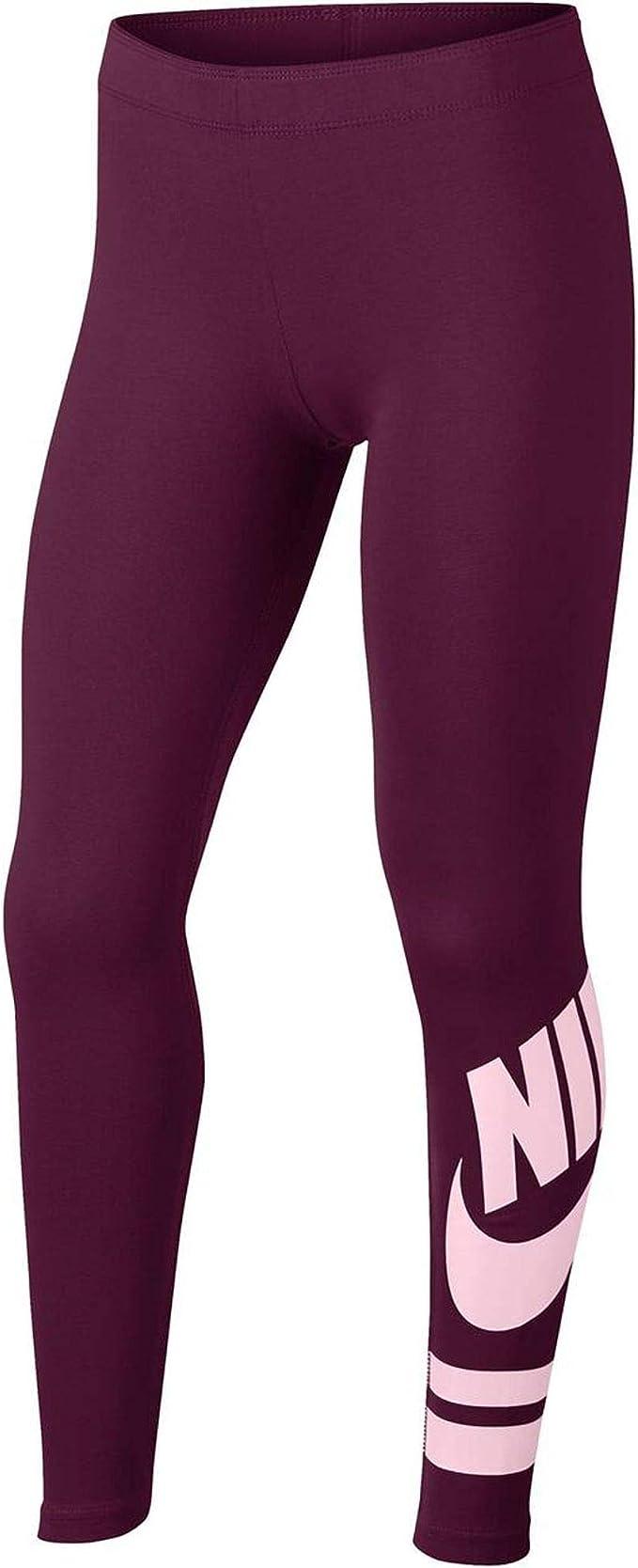 Nike Favorite Graphic Leggings Fille, BordeauxPink Foam, FR