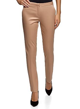 2dc8d5b53 oodji Ultra Femme Pantalon Basique d'Été