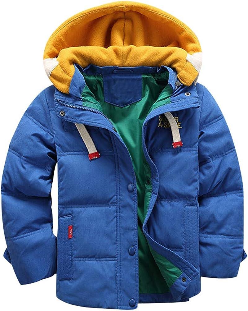 Mud Kingdom Boys Dress Coats with Hood Faux Wool Overcoat Outerwear Fleece