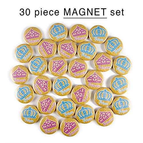 30 Prince or Princess Mini- Magnets. 1