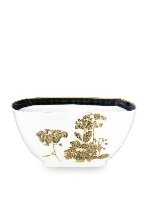 Noritake Everyday Elegance Verdena Medium Square Bowl, Gold, 30-Oz. by Noritake