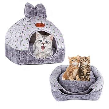 laamei - Cama para Gatos, Igloo, autocalentante, cómoda, Triangular, Cama para Gatos, Tienda de campaña para Mascotas, Cesta para casa: Amazon.es: Productos ...